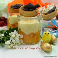 Mango and Passion fruit creams - perfect with your Easter chocolate!