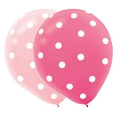 1st Birthday Girl Latex Balloons - Hugs & Stitches Girl 1st Birthday Party Supplies