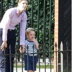 Looks like Prince George was unhappy to be saying goodbye to mum and dad.