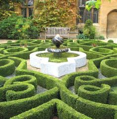 Mazes labyrinths and knot gardens on pinterest maze for Tudor knot garden designs