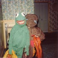 """i was E.T. for #halloween in #1982 (age almost-9)"" by jcmeloni, via Flickr #Kermit #costumes"