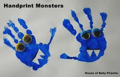 Handprint monsters