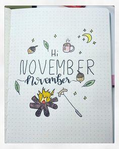 November Cover Page für das Bulletjournal.  Inspiration für eine herbstliche November Start Seite für mein Bullet Journal Journal 3, November, Instagram, Lantern, Inspiration, Mesh, Blouse, Cover, Sleeve