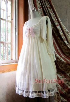 "Surface Spell Gothic ""Vanilla Ice"" Chiffon Empire Waist JSK in Ivory(I think? This color.)"