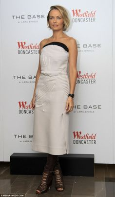 Style icon: Lara Bingle stunned as she made an appearance at Melbourne's Doncaster Westfield over the weekend