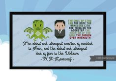H. P. Lovecraft - Mini Libraries cross stitch pattern