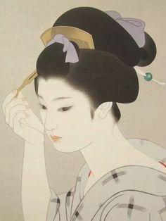 [转载]日本美人画欣赏<wbr>志村立美 シムラタツミ Tatsumi Shimura 1907年-1980年