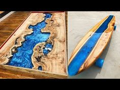 10 MOST Amazing Epoxy Resin and Wood River Table ! Awesome DIY Woodworki...