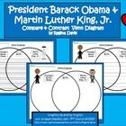 $ - This is a Venn Diagram that compares President Barack Obama to Martin Luther King, Jr.   This would be good to use during January around MLK Day. I...