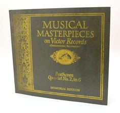 Musical Masterpieces on Victor Records, Beethoven Quartet No 2 in G, Orthophonic Recording, Victrola 78 RPM 3 Album Set, 1920s by UpswingVintage on Etsy