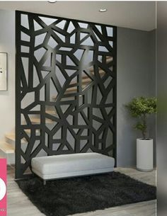 Separafor de ambiente Living Room Partition Design, Living Room Divider, Room Divider Walls, Room Partition Designs, Living Room Decor, Home Stairs Design, Door Design, Home Interior Design, Living Room Designs