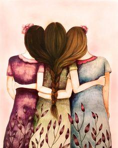 Drei Schwestern gut befreundet mit braunen von claudiatremblay