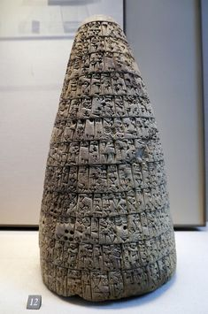 """Cone of Urukagina, king of Lagash, detailing his reforms againt abuse of """"old days"""", circa 2350 BC. Courtesy & currently located at the Louvre, France. Photo taken by Poulpy. (via theforbiddencolors) Ancient Near East, Ancient Ruins, Ancient History, Art History, European History, Ancient Greece, Ancient Egypt, American History, Ancient Mesopotamia"""