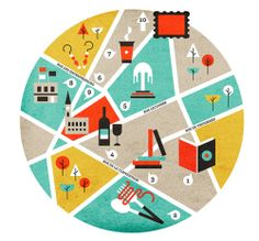 Creative Illustration, Ffffound, Graphic, and Design image ideas & inspiration on Designspiration Stoff Design, Web Design, City Illustration, Information Design, Flyer, Plans, Oeuvre D'art, Graphic Design Inspiration, Color Inspiration