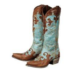Dawson Turquoise Women's Cowboy Boots - Size 8 - OVERSTOCK