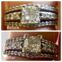 DIY Ring Cleaner. Uses household ingredients! Works great on silver, gold, nickel and sterling silver.