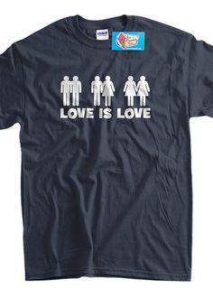 Love Is Love Screen Printed TShirt Tee Shirt T by IceCreamTees, $14.99