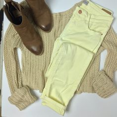 Yellow Zara Skinny Denim Light yellow jeans from Zara. Low rise. Skinny leg. Bought them in France. European size 34, US size 2, but fits like 0. In great condition. Great for spring and summer! Zara Jeans Skinny
