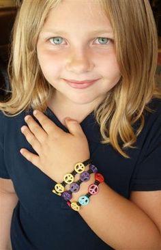 Peace Sign Woven Charm Bracelet $3.99 #GivePeaceaChance