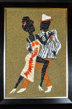 "Seashell mosaic dance collection, ""Rhumba""."