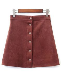 SHARE & Get it FREE   Single-Breasted Faux Suede SkirtFor Fashion Lovers only:80,000+ Items • New Arrivals Daily Join Zaful: Get YOUR $50 NOW!