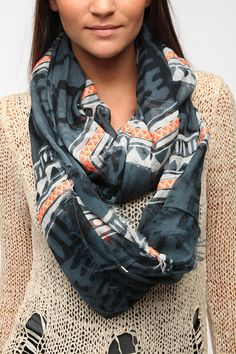 Staring At Stars Embellished Eternity Scarf  #UrbanOutfitters