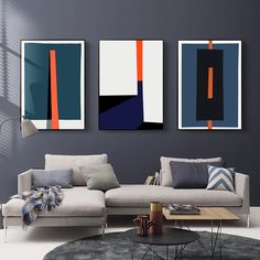 Bold Geometric Abstract Design Wall Art Posters Contemporary Art Canvas Prints Paintings For Modern Office Salon Home Living Room Art Decor – Decoration Living Room Pictures, Wall Art Pictures, Modern Pictures, Art Pour Salon, Quilt Modernen, Nordic Art, Abstract Wall Art, Pink Abstract, Geometric Painting