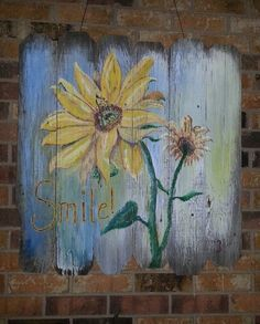 Used house paint on some old wood found in the back 40. 3rd painting.