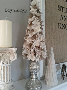 Burlap scraps Christmas Tree