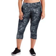 Just My Size Active Performance Capri Leggings, Women's, Size: 3XL, Blue