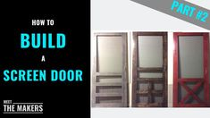 Part How to Build a Screen Door - Superior Screen Doors - Meet The Makers Custom Screen Doors, Wood Screen Door, Wood Doors, Meet, Interiors, Building, Youtube, Decor