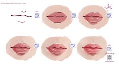 How to draw lips in Paint Tool SAI.
