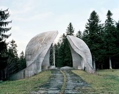 soviet retro-futurist brutalist monuments
