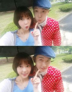 Sungmin & Kim SaEun are lovey-dovey