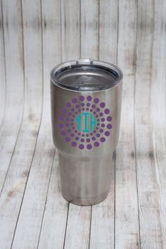 Add some personality to your Yeti, RTIC, Ozark or other tumbler or water bottle! Add your monogram and let your personality shine! Each decal measures 3 high making them perfect for a 20oz or 30oz tumbler!  Please use the drop down menu to choose your vinyl choice for the outside of your decal and for your monogram. In the notes to seller please leave your monogram in the following order: first, last, middle. Also, please leave your choice for which dotted monogram design you would like. If…