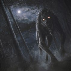 Through the shadowy moonlight he comes.....werewolf attack by stoudaa.deviantart.com on @deviantART