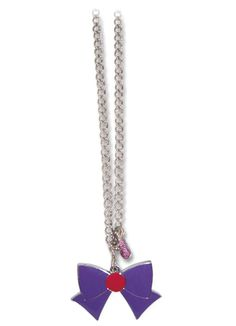 New official Sailor Mars Ribbon Necklace! More info and shopping links here http://www.moonkitty.net/reviews-buy-sailor-moon-jewelry.php