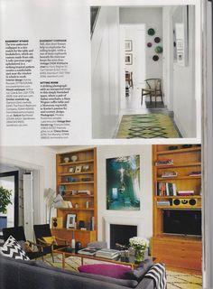 Chevy cushion & throw seen in the home of Karine Roussel. Homes & Gard