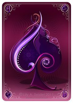 Ace of Spades Michael's card purple is for Ruth 's favorite color Purple Love, All Things Purple, Purple Rain, Shades Of Purple, Spade Tattoo, Playing Cards Art, Ace Of Hearts, Joker, Heart Cards