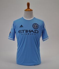 buy popular 2a09f 70552 New York City FC MLS Authentic Adidas Climacool Formotion Men s Soccer  Jersey M  adidas