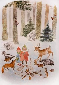 "Phoebe Wahl, ""Winter in the Wood"".  That fox's nose . . . is so so so so lovely."