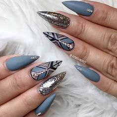 Best Stiletto Nails Designs Trends for You ★ See more: #nails