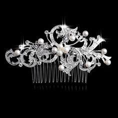 Bridal hair comb  Wedding hair comb  Rhinestone & by PoshBridals