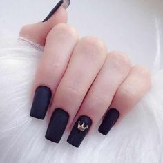 A manicure is a cosmetic elegance therapy for the finger nails and hands. A manicure could deal with just the hands, just the nails, or Stylish Nails, Trendy Nails, Long Nails, My Nails, Short Nails, Fall Nails, Crown Nails, Crown Nail Art, Nagellack Design