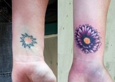 Cover up tattoo with before and after pictures