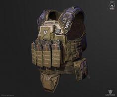 new 3d model for crytek (soldier vest), Denis Didenko on ArtStation at https://artstation.com/artwork/new-3d-model-for-crytek-soldier-vest