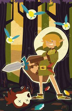 Legand of Zelda Octorok Down Original Print by trythemonkey, $19.00