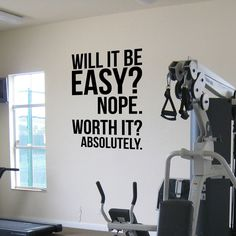 Absolutely.fitness motivation Wall Quotes poster, large Gym Kettlebell Crossfit Boxing decor letters Wall Sticker -- Want to know more, click on the image. #HomeDecor