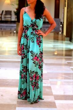 Long dress tropical