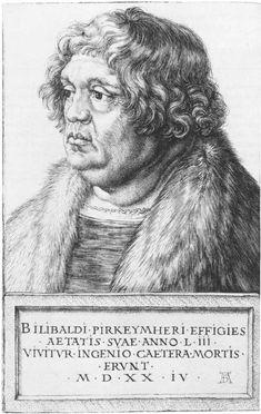 Willibald Pirckheimer. Durer. 1524. Engraving. 181 x 115 mm. Metropolitan Museum of Art. New York.